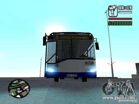 Solaris Urbino 12 for GTA San Andreas back view