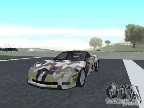 Chevrolet Corvette Z06 for GTA San Andreas interior