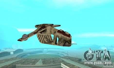 Republic Gunship from Star Wars for GTA San Andreas back view
