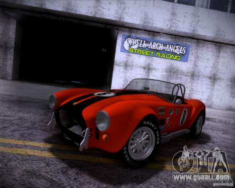 Shelby Cobra 427 Full Tunable for GTA San Andreas back view