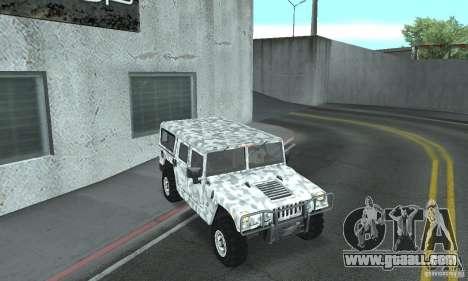 Hummer H1 for GTA San Andreas bottom view