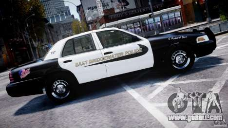 Ford Crown Victoria Massachusetts Police [ELS] for GTA 4 left view