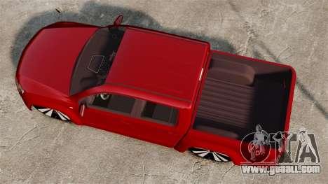 Volkswagen Amarok 2.0 TDi AWD Trendline 2012 for GTA 4 right view