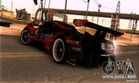 Pagani Zonda R for GTA San Andreas inner view