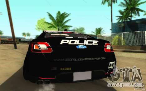 Ford Taurus 2011 LAPD Police for GTA San Andreas right view