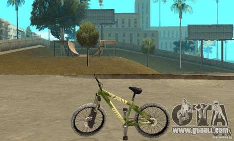 Hardy 3 Dirt Bike for GTA San Andreas left view