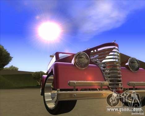 Custom Woody Hot Rod for GTA San Andreas back view
