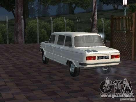 ZAZ 968 m Limousine for GTA San Andreas back view