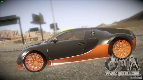 Bugatti Veyron Super Sport for GTA San Andreas side view