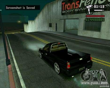 VW Saveiro G4 1.8 for GTA San Andreas back left view