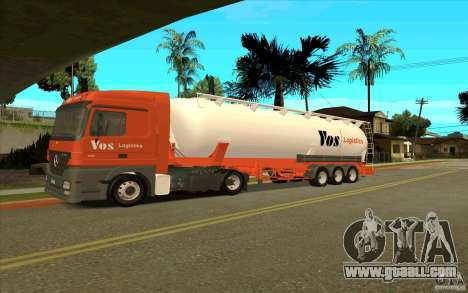 Trailer for Mercedes-Benz Actros for GTA San Andreas right view