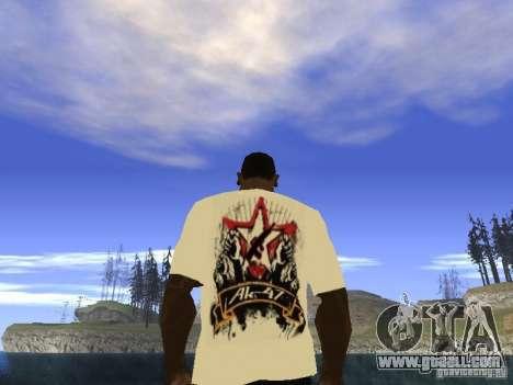 T-shirt NoGGano228 and AK 47 for GTA San Andreas third screenshot