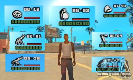 New Weapon Icon Pack for GTA San Andreas