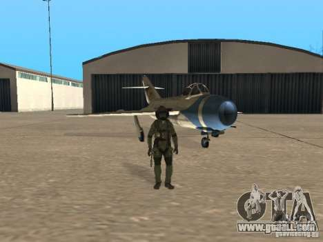MiG 15 with weapons for GTA San Andreas