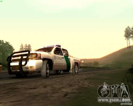 Chevrolet Silverado Police for GTA San Andreas bottom view