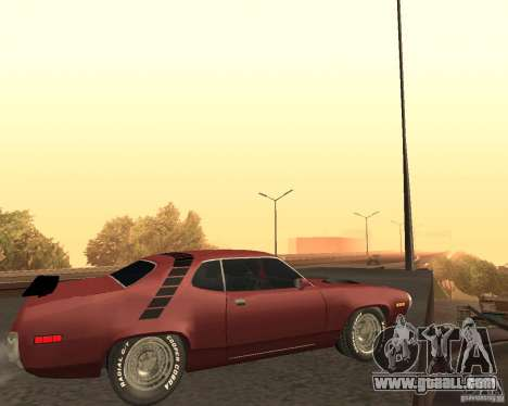Plymouth Roadrunner for GTA San Andreas back view