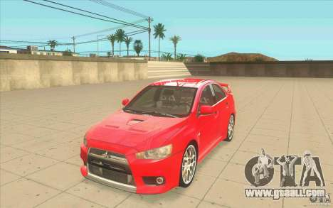 Mitsubishi Lancer Evolution X MR1 for GTA San Andreas