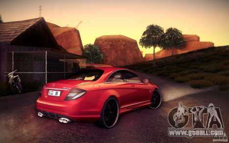 Mercedes Benz CL65 AMG for GTA San Andreas back view