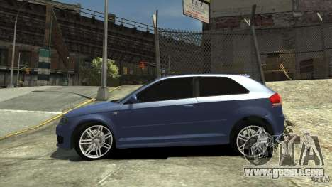 Audi S3 2006 v1.1 tonirovanaâ for GTA 4 left view