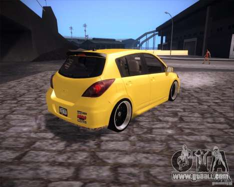 Nissan Versa Tuned for GTA San Andreas back left view
