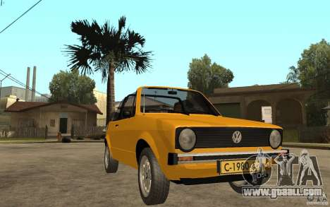 Volkswagen Golf MK1 Cabrio for GTA San Andreas back view