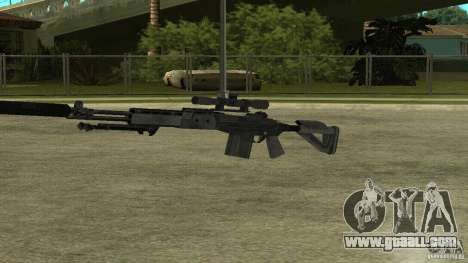 MK14 EBR with a silencer for GTA San Andreas forth screenshot
