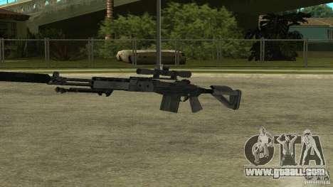 MK14 EBR with a silencer for GTA San Andreas forth screenshot