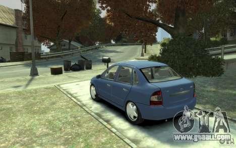Lada VAZ 1118 Kalin for GTA 4 back left view