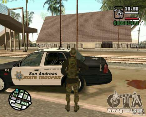 Skin Praice from COD 4 for GTA San Andreas fifth screenshot