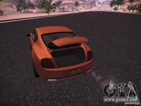 Bentley Continetal SS Dubai Gold Edition for GTA San Andreas side view