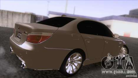 BMW M5 2009 for GTA San Andreas back view