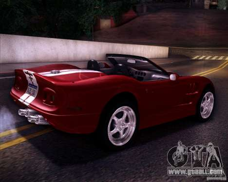 Shelby Series One 1998 for GTA San Andreas left view