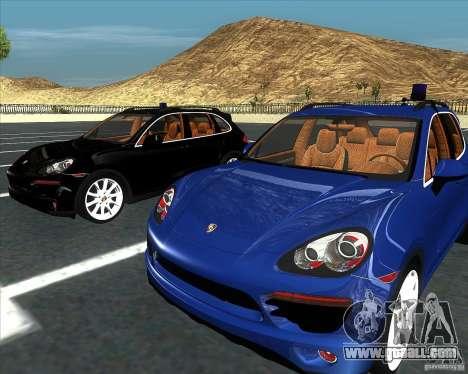Porsche Cayenne 958 v1.1 for GTA San Andreas back left view