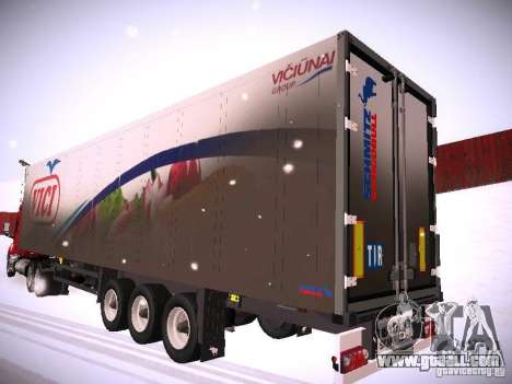 Trailer for DAF XF105 for GTA San Andreas