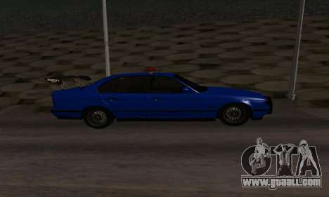 BMW M5 POLICE for GTA San Andreas left view