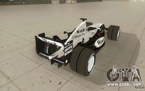 McLaren Mercedes MP 4-19 for GTA San Andreas side view
