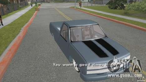 Chevrolet Silverado Mini Truckin 1996 for GTA San Andreas back left view