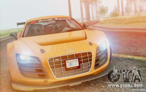 Audi R8 LMS GT3 for GTA San Andreas inner view