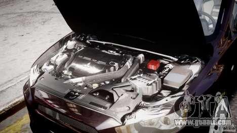 Mitsubishi Lancer X for GTA 4 upper view