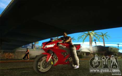 Yamaha YZF R1 Tuning Version for GTA San Andreas back left view