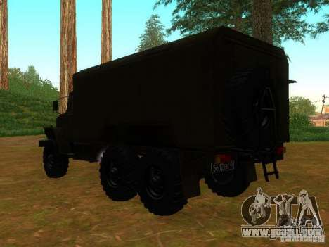 Ural 4320 Kung for GTA San Andreas back left view