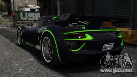 Porsche 918 RSR Concept for GTA 4 back left view