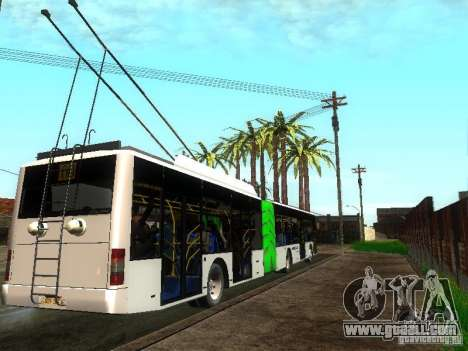 Trolleybus LAZ E301 for GTA San Andreas right view