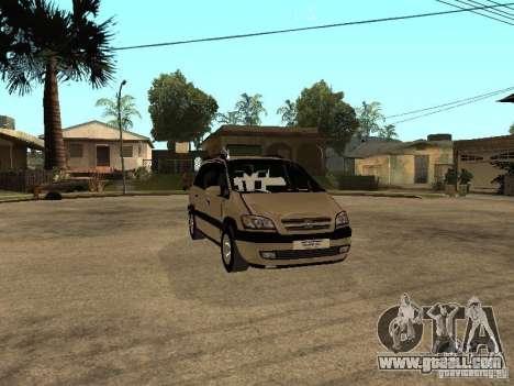 Opel Zafira for GTA San Andreas inner view