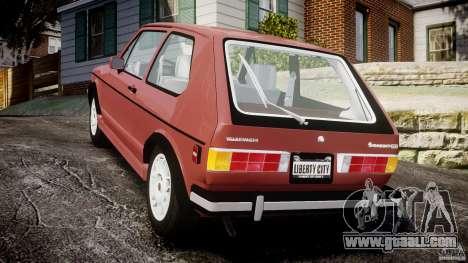 Volkswagen Rabbit 1986 for GTA 4 back left view