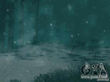 Snowfall for GTA San Andreas third screenshot