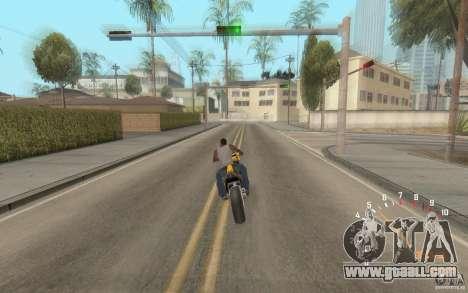 Digital speedometer and tachometer for GTA San Andreas second screenshot