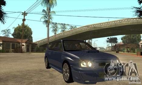 Subaru Impreza WRX STi - Stock for GTA San Andreas back view