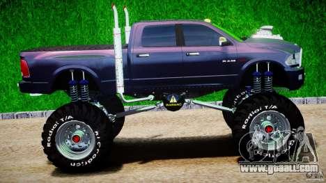 Dodge Ram 3500 2010 Monster Bigfut for GTA 4 inner view
