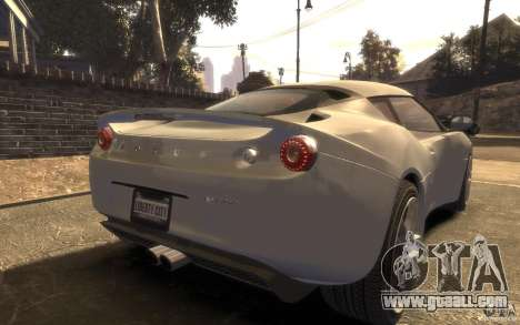 Lotus Evora 2009 for GTA 4 left view